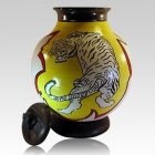 Jumping Tiger Cremation Urns