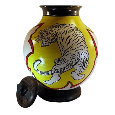 Jumping Tiger Cremation Urns