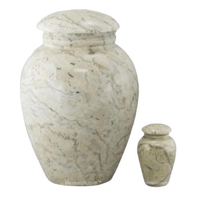 Illume Ecru Marble Cremation Urns