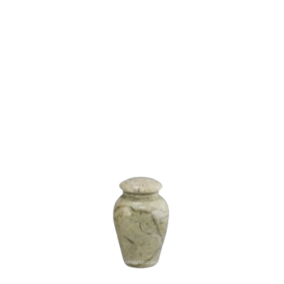 Illume Ecru Small Marble Urn