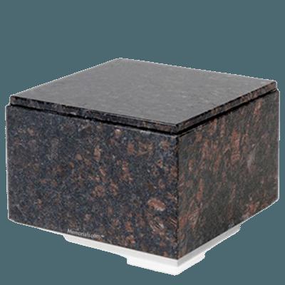 Immensita Silver Tan Brown Granite Urn