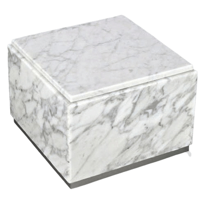 Immensita Silver Bianco Marble Urn