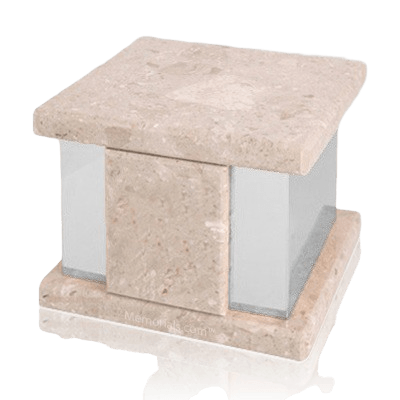 Infinita Silver Perlato Marble Medium Urn