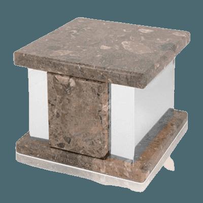 Infinita Silver Rosatica Marble Medium Urn