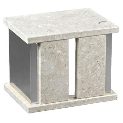 Infinita Silver Perlato Marble Companion Urn