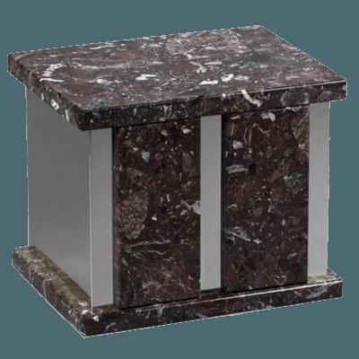 Infinita Silver Rosso Levanto Marble Companion Urn