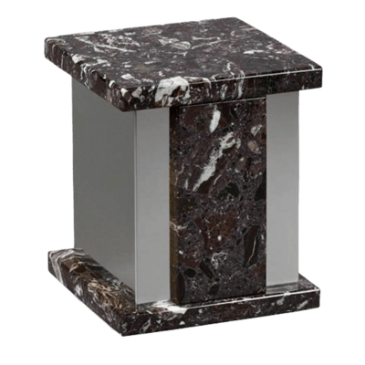 Infinita Silver Rosso Levanto Marble Cremation Urns