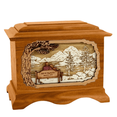 Infinitely Mahogany Cremation Urn