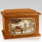 Infinitely Mahogany Memory Chest Cremation Urn