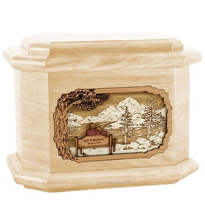 Infinitely Maple Octagon Cremation Urn