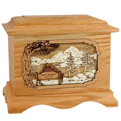 Infinitely Oak Cremation Urn