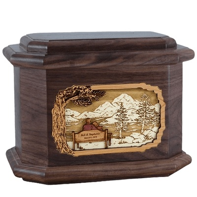 Infinitely Walnut Octagon Cremation Urn