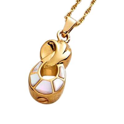 Infinity Gold Pearl Cremation Pendant