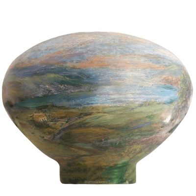 Ireland Wood Cremation Urn