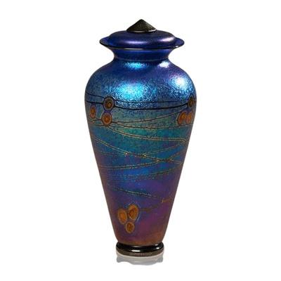 Iridescent Glass Cremation Urn