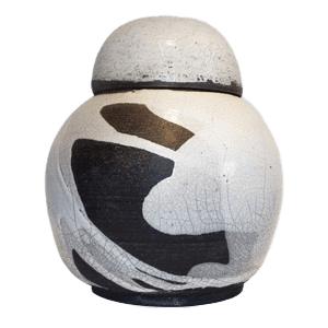 White Irish Ceramic Urn