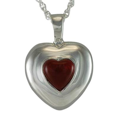 January Cremation Heart Pendant