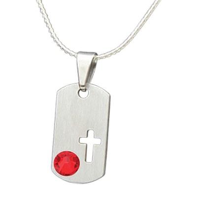 July Cross Cremation Pendant