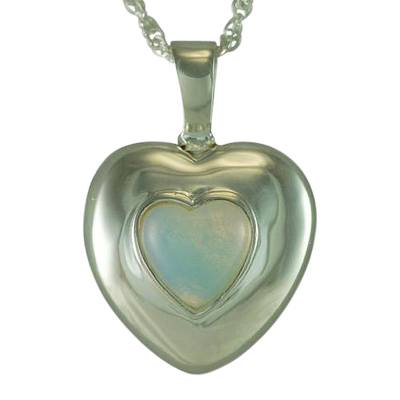 June Cremation Heart Pendant