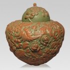 Jungle Ceramic Cremation Urn
