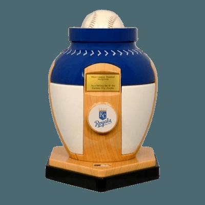 Kansas City Royals Baseball Cremation Urn