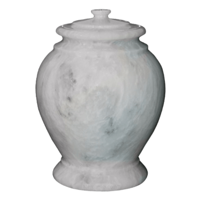 Antique White Marble Urn II