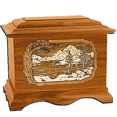Lakeside Mahogany Cremation Urn For Two