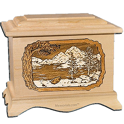 Lakeside Maple Cremation Urn For Two