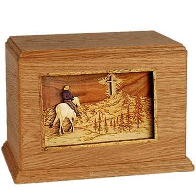 Last Horse Ride Mahogany Companion Urn