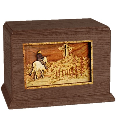 Last Horse Ride Walnut Companion Urn
