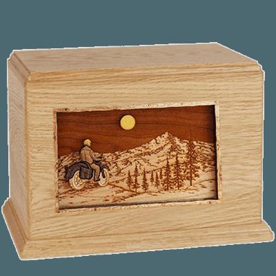 Last Motorcycle Ride Maple Companion Urn