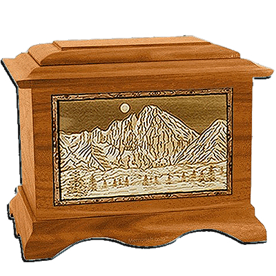 Longs Peak Mahogany Cremation Urn For Two