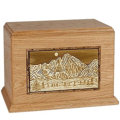 Longs Peak Oak Companion Urn