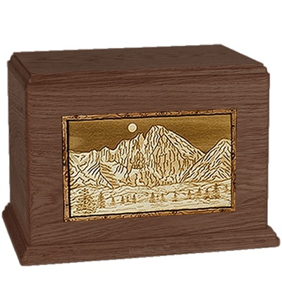 Longs Peak  Walnut Companion Urn
