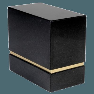 La Nostra Silver Nero Granite Companion Urn