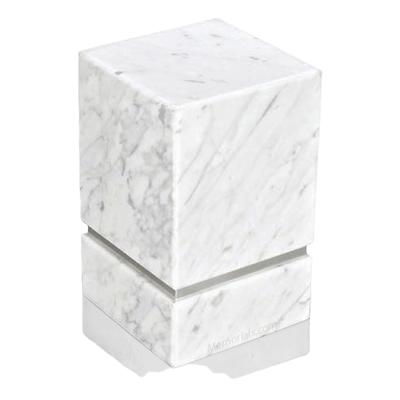 La Nostra Silver Bianco Marble Urn
