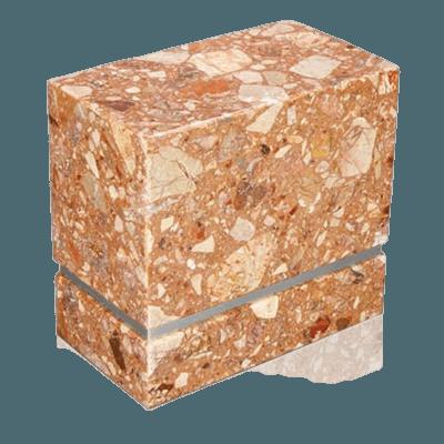 La Nostra Silver Breccia Marble Companion Urn