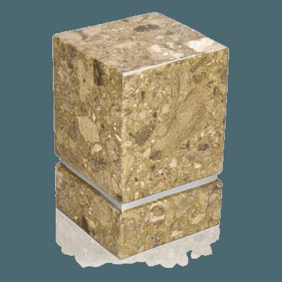 La Nostra Silver Rosatica Marble Urn
