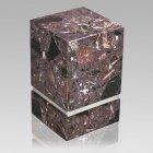 La Nostra Silver Rosso Levanto Marble Cremation Urns