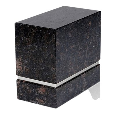 La Nostra Silver Tan Brown Granite Companion Urn