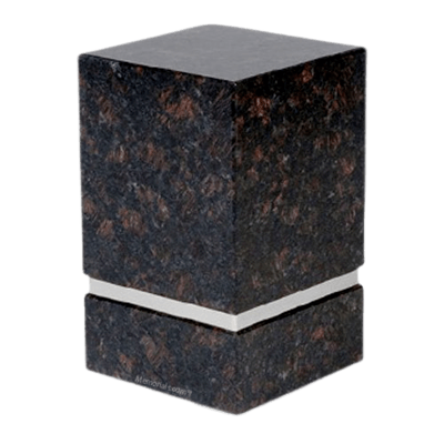 La Nostra Silver Tan Brown Granite Urn