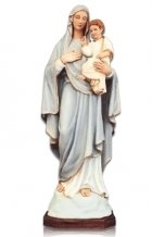 Lady with Child on Arm Large Fiberglass Statues