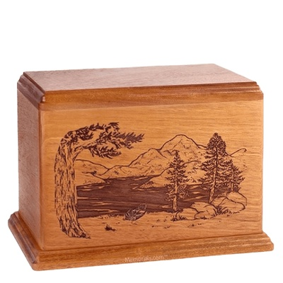 Lakeside Companion Cherry Wood Urn