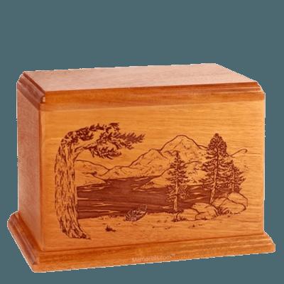 Lakeside Companion Mahogany Wood Urn