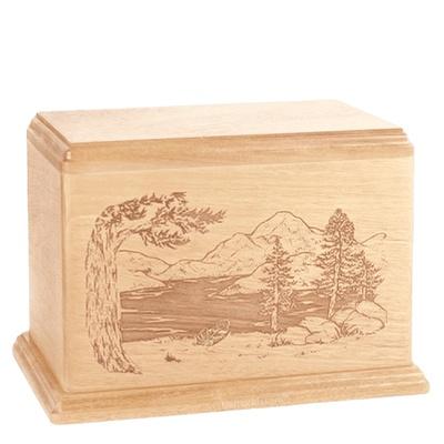 Lakeside Companion Maple Wood Urn