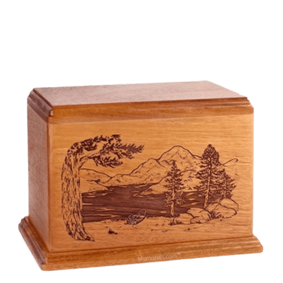 Lakeside Individual Cherry Wood Urn