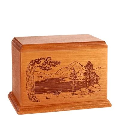 Lakeside Individual Mahogany Wood Urn