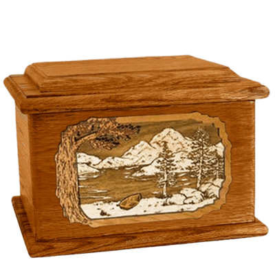 Lakeside Mahogany Memory Chest Cremation Urn