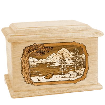 Lakeside Maple Memory Chest Cremation Urn