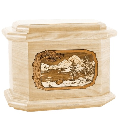 Lakeside Maple Octagon Cremation Urn